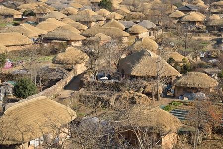 prospect: perspective de Cor�e vieille ville traditionnelle appel�e Nakan en Cor�e Banque d'images