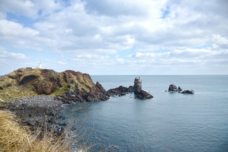 Landhead called Seobjicoji, Famous Place in Jeju Island  photo