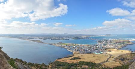 view of SeongSan Ilchulbong  Volcanic Cone  in Jeju Island  photo