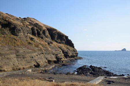 Drangon Head Seashore  YongMeori  in Jeju Island  photo