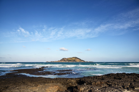 view from Hyeopjae Beach in Jeju Island, Korea