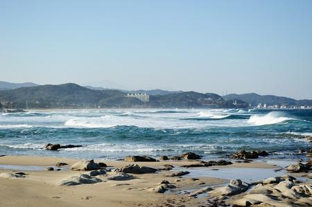 white waters in seaside of East-Sea, Korea photo