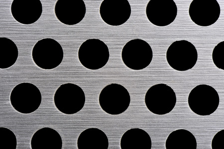 detail texture of aluminum plate with hole photo