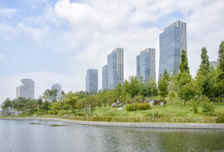 Songdo Central Park in Songdo International Business District of Korea