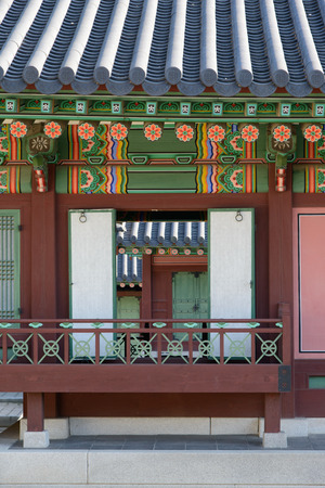 banister: Detail of Changdeokgung, the palace of Joseon Dynasty