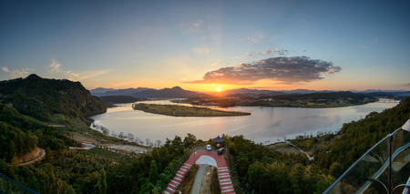 View from Hak Observatory in Sangju-si, Korea