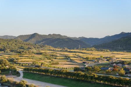 folk village: View of Andong Hahoe folk Village in Korea