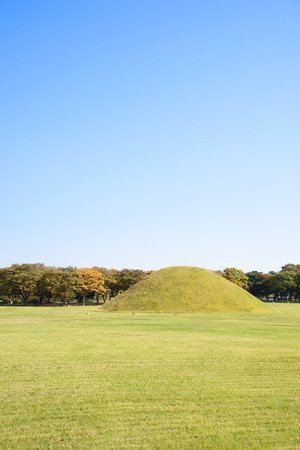 royal tombs located in Gyeongju in Silla kingdom. Silla was one of the kingdoms of acient Korea. photo