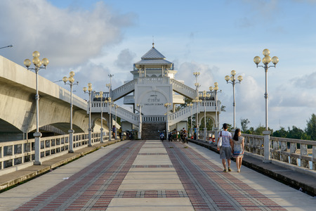 PHUKET, THAILAND - AUGUST 05, 2013: pedestrian Bridge between Phuket and Pang Nga in Thailand