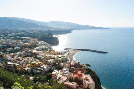 meta: View of Meta and SantAgnello  on the Amalfi Coast in Campania, Italy.
