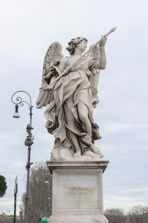 lance: Angel with the Lance is a statue on the Ponte SantAngelo in Rome, Italy. Ponte SantAngelo is a bridge in front of the Castel SantAngelo.