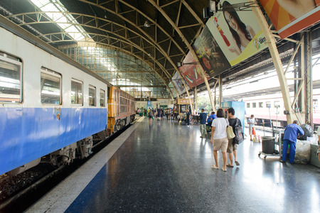 thialand: BANGKOK, THAILAND - DECEMBER 30, 2012: Inside View of Lamphong Train Station in Bangkok, Thialand.