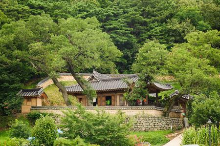 GYEONGJU, KOREA - AUGUST 9, 2010: Simgsujeong in Yangdong Folk Village in Gyeongju, Gyeongsang-do, Korea. The village is a World Heritage Site by UNESCO.