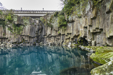 reflect: Cheonjeyeon No. 1 cascade. Cheonjeyoen falls (means the pond of God) consists of 3 falls.