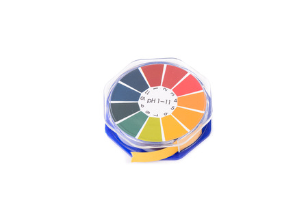 close-up of litmus paper roll for testing acid level