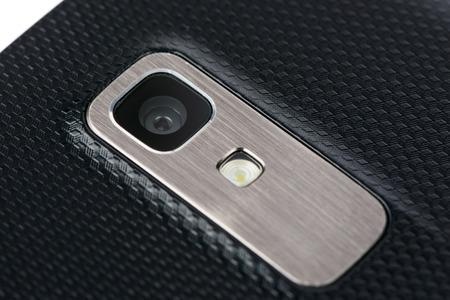 camera lens: Closeup of Camera module on smartphone back