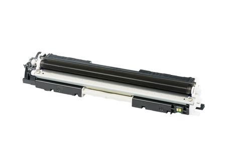printer cartridge: Black color Laser printer toner cartridge, isolated on white