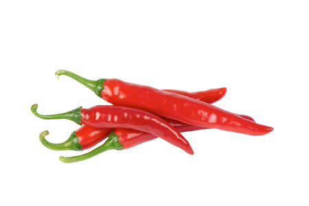 Korean red chili peppers, isolated on white