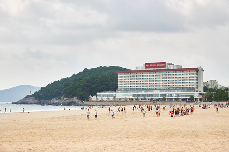accommodations: Busan, Korea - September 19, 2015: The Westin Chosun Busan is a hotel located at the entrance of Dongbaek Island in Busan. And It was one of the accommodations of choice for those attending the 2005 APEC Summit.