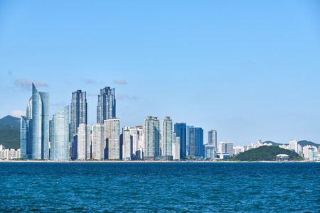 seaside: Marine city in Busan. It is a luxury and prestigious residential area constructed on Suyeong bay reclaimed land in Haeundae District.