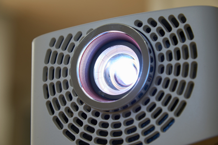 home office: Closeup of beam projector for home & office