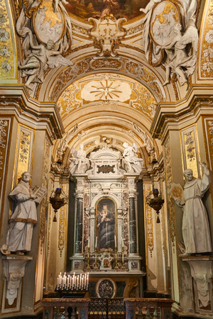 religious art: Ravenna, Italy - Febuary 18, 2016: interior of Basilica of Sant Apollinare Nuovo, a 6th-century Church built by Theodoric the Great as his palace-chapel, listed by UNESCO for its religious art.