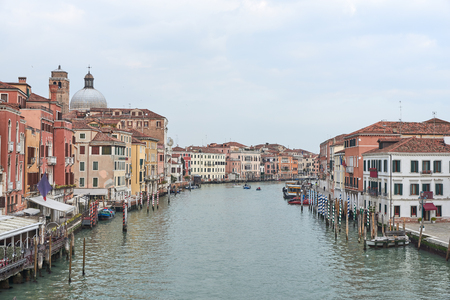 archtecture: Landscape of Venice, a city in northeastern italy. It is famous for the beauty of its settings, archtecture and artwork. A part of Venice is resignated as a World Heritage site. Stock Photo