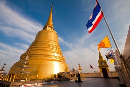 pu: Pu khao Thong Temple buddhism, Bangkok Thailnad Stock Photo