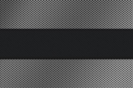 fib: Seamless hexagon metal background with light reflection  Stock Photo