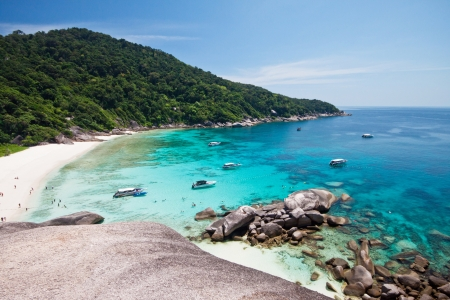 View point of Similan Islands Paradise Bay, Thailand  photo