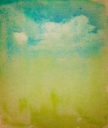 grunge tree: Water color on vintage paper with space for text or image  Stock Photo