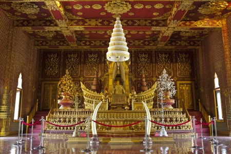 palace temple in burma style at Surasri Camp, Kanchanaburi, Thailand