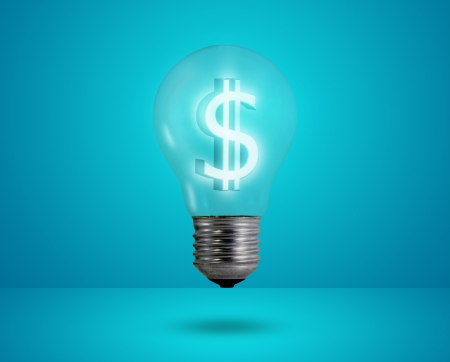 Money making idea. Light bulb with Dollar symbol. Stock Photo - 14493550
