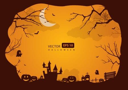 Halloween border for design