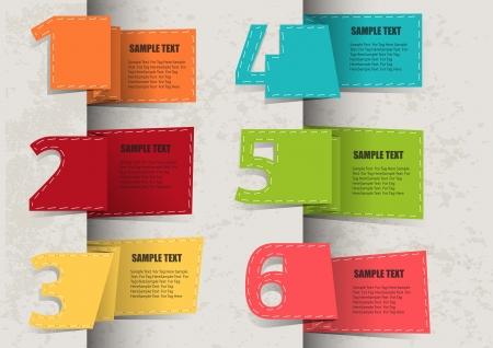 corner tab: Set of Paper Tag Labels  Illustration