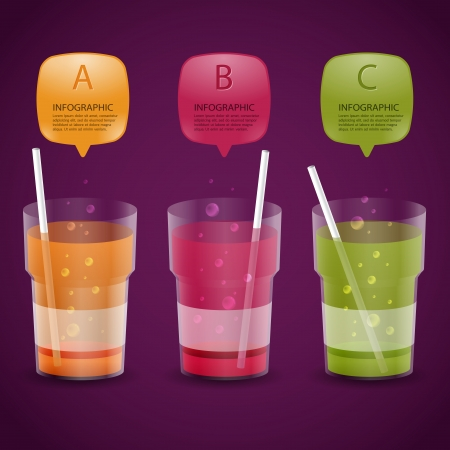 soft drink: Creative Template soft drink glass banner   can be used for infographics   banners   concept vector illustration
