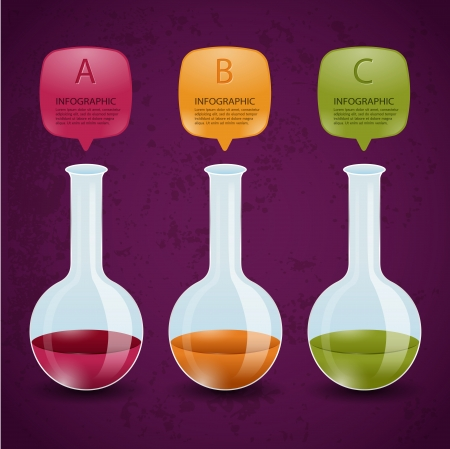 pharmacy symbol: Creative Template test tube glass banner   can be used for infographics   banners   concept vector illustration  Illustration