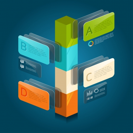 onward: infographic isometric graph   graphic or advertise layout vector Illustration