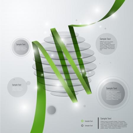3D modern infographic template