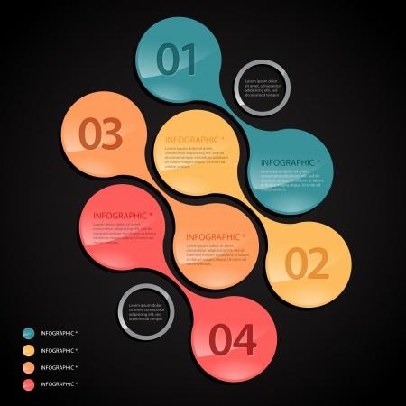Modern black infographics banner    Stock Vector - 22490527