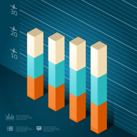 onward: infographic isometric graph