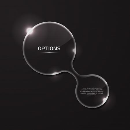 glass panel: Vector infographic circle glass panels