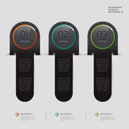 Modern black infographics banner Vector
