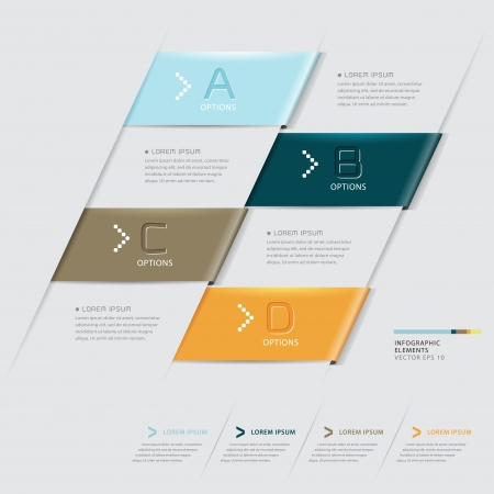 Modern Design template   can be used for infographics   numbered banners   horizontal cutout lines   graphic or website layout vector  Vector