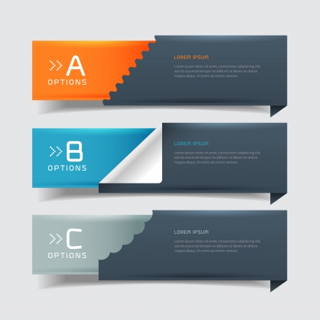 Modern business steb origami style options banner  Vector illustration  can be used for workflow layout, diagram, number options, step up options, web design, infographics   Illustration