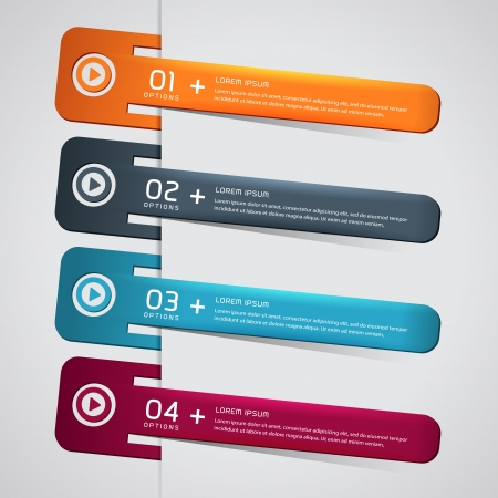 A set of Modern Colorful bookmarks for speech  Vector
