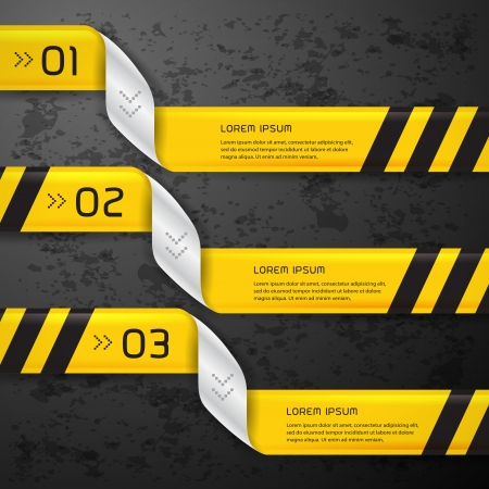 Vector bright yellow banners set  Stock Vector - 22816977