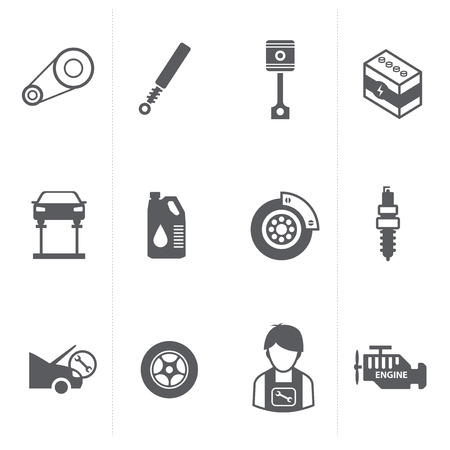 oil change: Car parts icons