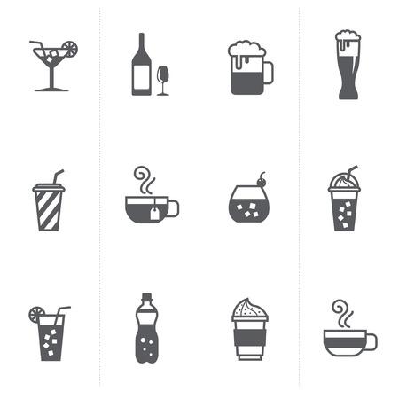 boissons et de la bière icônes ensemble Vecteurs