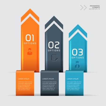 phonographic: Modern business step origami style options banner  Vector illustration  can be used for workflow layout, diagram, number options, step up options, web design, infographics